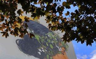 Fresque Aube, rue de Warcq