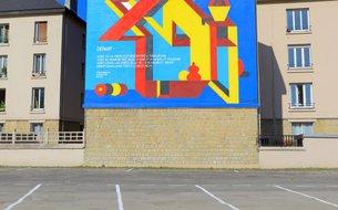 Fresque Départ, rue Louis Fraison