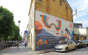 Fresque Enfance - rue de Tivoli